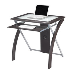 Office Star - Office Star X-Text Computer Desk in Espresso with Silver Accents - Office Star - Computer Desks - XT59ES