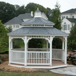 Vinyl Gazebos - www.gazebos.com The Country Style is simple yet attractive and will look perfect in any garden whether in the city or the country.  And it's maintenance free!