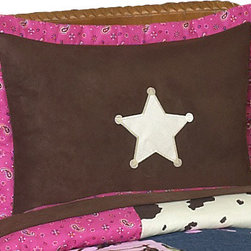 Sweet Jojo Designs - Western Cowgirl Pillow Sham - The Western Cowgirl standard pillow sham coordinates beautifully with the Sweet jojo designs, Western Cowgirl bedding collection. This pillow sham is a quick and easy way to complete the look and theme in your child's bedroom. Machine washable. Fits all standard size pillows. The Pillow Sham Dimensions are 20 in. x 26 in.