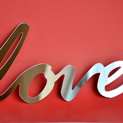 Selfadhesive Mirror Acrylic Word love by StudioLiscious on Etsy