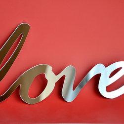 Selfadhesive Mirror Acrylic Word love by StudioLiscious on Etsy - Mirror love.