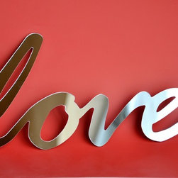Selfadhesive Mirror Acrylic Word love by StudioLiscious on Etsy - Mirror love.