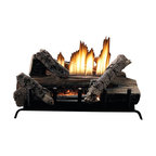"Empire - Manual 6-piece 18"" 28000 BTU Refractory Log Set - Natural Gas - These systems combine the burner and log set into one package. Because they require a minimum of 12 inches firebox depth, these compact systems fit easily into most fireplaces. These items are considered a special order and cannot be cancelled or returned unless damaged."