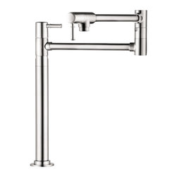 Hansgrohe - Hansgrohe 4219000 Talis C Pot Filler Deck Mounted in Chrome - Pot Filler Deck Mounted in Chrome belongs to Kitchen Collection by Hansgrohe Founded in Germany's Black Forest in 1901, Hansgrohe is committed to building a strong sense of tradition. Hansgrohe's products offer a lifetime of satisfaction featuring the ultimate in quality, design and performance. Customers appreciate our many breakthroughs in comfort and technology that allow you to make the most of water. With its wide range of products, Hansgrohe has the right solution for you. Enjoy every moment, each one is unique, just like your Hansgrohe shower. Hansgrohe has always had a sharp eye for innovation, designing products with exceptional durability that are not only highly functional but also a source of pleasure. For us, this means constantly advancing and striving for improvements. Our showers and faucets offer many useful functions and details that make daily use as easy and comfortable as possible so that you can enjoy your Hansgrohe products for many years to come.  Pot Filler (1)