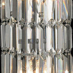 Elegant Lighting - Elegant Lighting 2030W8C/RC Maxim 2 Light Wall Sconces in Chrome - 2030 Maxim Collection Wall Sconce W8in H16in E4in Lt:2 Chrome Finish (Royal Cut Crystals)