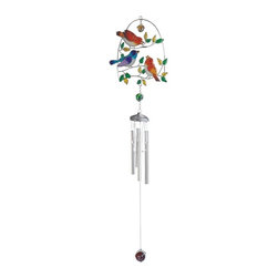 GSC - 29 Inch Colorful Birds on Branch with Gems Wind Chime - This gorgeous 29 Inch Colorful Birds on Branch with Gems Wind Chime has the finest details and highest quality you will find anywhere! 29 Inch Colorful Birds on Branch with Gems Wind Chime is truly remarkable.