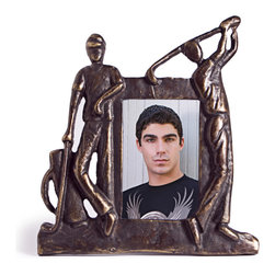 "Danya B - Iron and Glass Golfers Swing Metal Photograph Frame 5"" x 3.5"" - This gorgeous Iron and Glass Golfers Swing Metal Photograph Frame 5"" x 3.5"" has the finest details and highest quality you will find anywhere! Iron and Glass Golfers Swing Metal Photograph Frame 5"" x 3.5"" is truly remarkable."