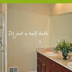 Half Bath Vinyl Wall Decal bathroomquotes21, Pink, 18 in. - Vinyl Wall Quotes are an awesome way to bring a room to life!