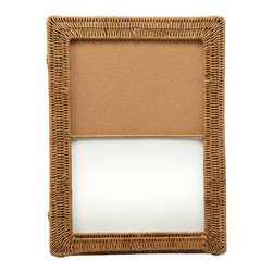 KOUBOO - Magnetic Dry Erase & Cork Board with Wicker Frame 18x24 - Take note! Natural cork and wicker lend a pleasing look to your everyday reminders. Hang this board in the kitchen, office or a child's room to add a homespun touch.