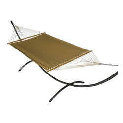 Phat Tommy - Sunbrella Hammock Set in Brass - The Phat Tommy Sunbrella Hammock is also part of our Outdoor Oasis Line and is our most durable and beautiful outdoor hammock.