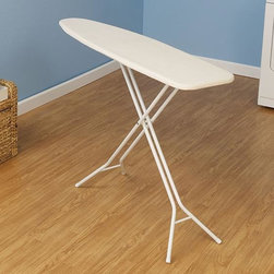 Home Decorators Collection - White Ironing Board - Our white ironing board is the ideal choice for stability and strength. With a welded construction and leg locks, this ironing board is especially reliable so you can iron then store easily. Includes no-scuff leg caps. Includes leg locks for maximum stability. White 100% cotton cover. Includes fiber pad. Fibertech&#174 ironing surface is environmentally friendly.
