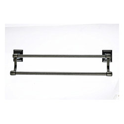 "Top Knobs Hardware - Stratton Bath 30"" Double Towel Rod - Length - 32"""