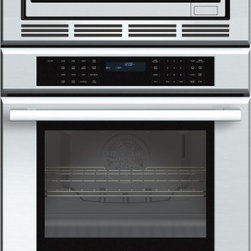 Thermador - 30 inch Masterpiece® Series Triple Oven (oven, convection microwave and warming - Convection two ways, plus a warming drawer. Our Triple Combination Oven gives you the convenience of a True Convection oven with a 4.7 cubic foot capacity, a 1000-watt convection microwave, and a warming drawer.