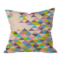 """DENY Designs - Bianca Green Completely Incomplete Throw Pillow, 16"""" x 16"""" - Wanna transform a serious room into a fun, inviting space? Looking to complete a room full of solids with a unique print? Need to add a pop of color to your dull, lackluster space? Accomplish all of the above with one simple, yet powerful home accessory we like to call the DENY throw pillow collection!"""
