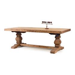 #N/A - Swinderby Trestle Table - Swinderby Trestle Table. Style: Modern, Width: 94.25, Depth: 39.25, Height: 30.5