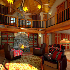 Traditional Family Room by Madson Design