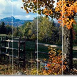Picture-Tiles, LLC - Trees Leaves Photo Kitchen Tile Mural T025 - * MURAL SIZE: 18x24 inch tile mural using (12) 6x6 ceramic tiles-satin finish.