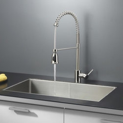 Ruvati - Ruvati RVC2328 Stainless Steel Kitchen Sink and Stainless Steel Faucet Set - Ruvati sink and faucet combos are designed with you in mind. We have packaged one of our premium 16 gauge stainless steel sinks with one of our luxury faucets to give you the perfect combination of form and function.