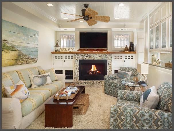 Tropical Family Room by Gacek Design Group, Inc.