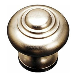 Richelieu Hardware - Richelieu Contemporary Solid Brass Knob 30mm Satin Nickel - Richelieu Contemporary Solid Brass Knob 30mm Satin Nickel
