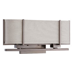 Nuvo Lighting - Portia Two Light Sconce With Khaki Fabric Shade In Hazel Bronze Finish - Portia - 2 Light Sconce w/ Khaki Fabric Shade - (2) 13w GU24 Lamps Included