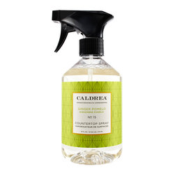 CALDREA - Ginger Pomelo Countertop Spray - Natural Essential Oils - Grapefruit, Ginger, Basil