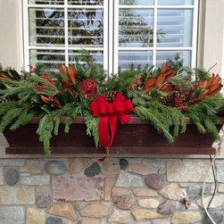 Winter Window Box Display - Mindy Habig