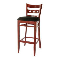None - Demi Chenille Barstool - Ideal for your kitchen or bar,this Demi barstool features a black chenille seat with a comfortable foam fill. This stool features a solid beechwood construction with a mahogany finish.