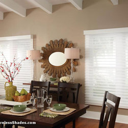 Privacy Sheer Shades - Lutron Privacy Sheer Horizontal Blinds.  Beautiful fabric meets industry-leading technology, where the soft elegance of a sheer is paired with the precise control of a blind. For more info check out our website at http://www.wirelessshades.com/