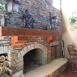 Barn Beam Fireplace Mantel -
