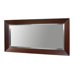 Decolav - Decolav Red Mahogany Mirror - DECOLAV's Cityview Suite Mirror has a Red Mahogany stained frame. It coordinates with the Cityview Suite Vanity. It can be used in any bathroom or hallway.