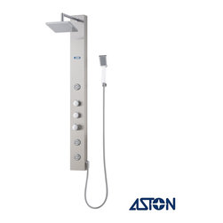 Aston - Aston Stainless Steel 51-inch 3-Jet Shower Panel - By allowing you to select between the relaxing overhead rainfall shower,the convenient hand shower or the 3 directional body jets with the diverter valve,this shower panel system will take your showering experience to the next level.