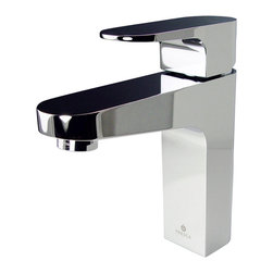 Fresca - Fresca Velino Single Hole Mount Bathroom Vanity Faucet - Chrome - This single hole faucet is made from heavy duty brass with a chrome finish. Features a Hydroplast mixing valve with water saving control.