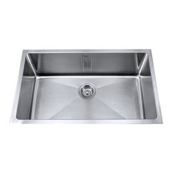 "Kraus - Kraus 32"" Undermount Single Bowl 16 Gauge Stainless Steel Sink Combo Set - Add an elegant touch to your kitchen with a unique and versatile undermount sink from Kraus"