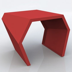 Arktura - PAC Side Table | Arktura - I'd use this bright red side table to inject some lighthearted energy into an industrial space or to add style to a family room. It comes as a coffee table too.