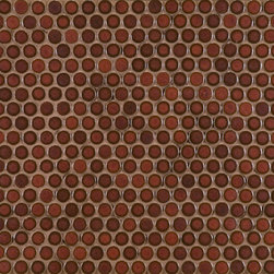 Ceramic Basics - Savoy - Ann Sacks Tile & Stone - Penny tiles are a great alternative to the hexagon tiles that are so popular. These penny tiles from Ann Sacks come in fabulous colors and are really well priced!