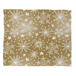 DENY Designs - DENY Designs Heather Dutton Snow Squall Guilded Fleece Throw Blanket - This DENY fleece throw blanket may be the softest blanket ever! And we're not being overly dramatic here. In addition to being incredibly snuggly with it's plush fleece material, you can also add a photo or select a piece of artwork from the DENY Art Gallery, making it completely custom and one-of-a-kind! And when you've used it so much that it's time for a wash, no big deal, as it's machine washable with no image fading. Plus, it comes in three different sizes: 80x60 (big enough for two), 60x50 (the fan favorite) and the 40x30. With all of these great features, we've found the perfect fleece blanket and an original gift!