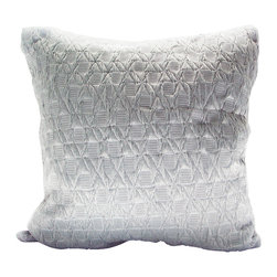 Fandindo Textiles LLC - Braided Waves Pillow - A big softie: This luxuriously silky pillow is generously sized to encourage longer and more indulgent lounging wherever and whenever you need it.