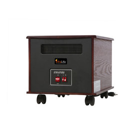 None - Infralife 100PTC Infrared Radiant Space Heater - Keep your home warm with this infrared radiant space heater from Infralife. A hardwood construction, built-in ''shut off'' safety feature and a quiet operation highlights this space heater.