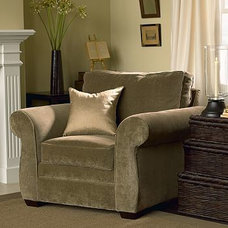 traditional armchairs by Pottery Barn