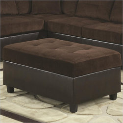 Coaster - Coaster Henri Storage Ottoman in Brown - Coaster - Ottomans - 503014 - This oversized cocktail ottoman is perfect for a family room or living room. The plush tufted top cushion offers a comfortable foot rest or an extra seat. The top of this rectangular ottoman lifts to reveal a hidden storage space for blankets magazines or other items. Create a clutter-free and versatile living room with this storage ottoman.