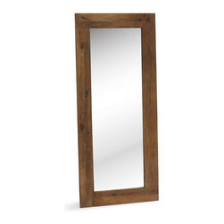 Zuo Modern - Vistacion Mirror - Aged Elmwood surrounds the Vistacion mirror. Whether in the bathroom or a hallway, this versatile mirror can go anywhere.