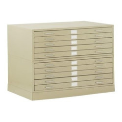 Sandusky Lee Flat Filing Cabinet with Closed Base - Paper ...