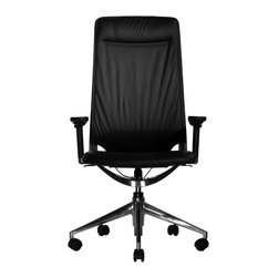 Wobi Office - Wobi Marco II Highback Chair (Adjustable Arms) - You know you've made it when you sit all day in this high quality desk chair. Adjustable features, fine leather and polished aluminum work together to create the perfect executive perch.