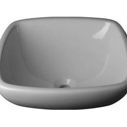 "DecoLav 1423 17.5"" Above the Counter Bathroom Sink - Square Ceramic Vitreous China. 17.375''W x 17.375''D x 8''H"