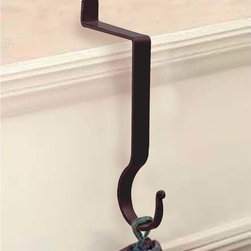 "Renovators Supply - Stocking Holders Black Iron Hanger Pigtail Stocking Holder 10"" H - Stocking Hanger. Wrought iron stocking mantle holders, a terrific way to display holiday stockings & bring JOY & CHEER to your home. STOP using nails or tacks on your mantle, rather use this handy damage-FREE stocking holder. RSF powder coating protects this hanger for year to come. A GREAT gift idea too! Use this holder year round to display dried flowers & Easter baskets! Measures 10 in. high."