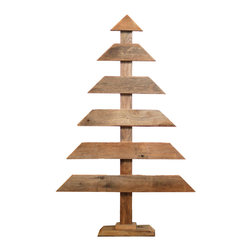 Barn Wood Christmas Tree, Large - This barn wood Christmas trees make for beautiful, rustic holiday decor. They look great around the traditional Christmas tree or as stand alone items.