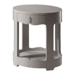 Bungalow 5 - Brigitte 1-Drawer Side Table - Gray - Brigitte 1-Drawer Side Table - Gray