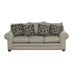 Royola Pacific - Light Gray Plush Contemporary Sofa & Loveseat, Sofa - Solid hardwood construction
