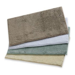 Finest - Finest Luxury Cotton Bath Rug - This extravagantly plush, soft and absorbent bath rug features drip-dry barrier technology for a luxurious experience.